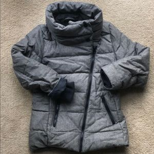 Gap black/white puffer
